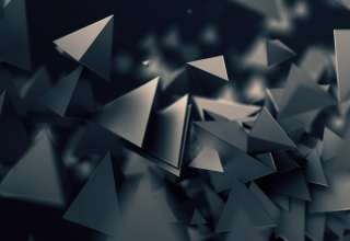 3D Triangles Dark Wallpaper