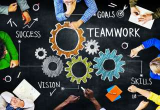 Diverse People in a Meeting and Teamwork