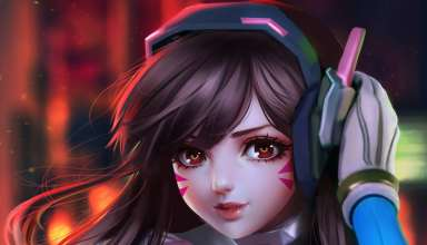 D.Va Overwatch Fan Art Wallpaper