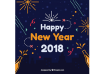 دانلود وکتور Happy new year 2018 flat background