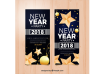 دانلود وکتور 2018 new year banners with stars