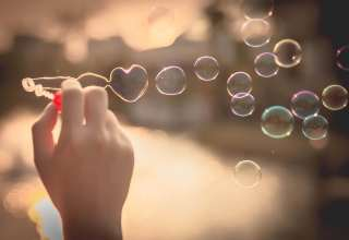 My Heart Bubbles at the sky, sunset,Love