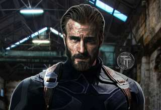 Captain America With Beard in Avengers: Infinity War 2018 Wallpaper