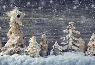 Christmas New Year Decorations Snow Wallpaper