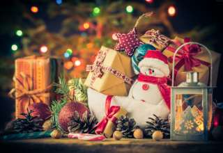 New Year Christmas Gifts Snowman 4k Wallpaper