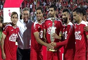جشن قهرمانی پرسپولیس در سوپر جام ایران