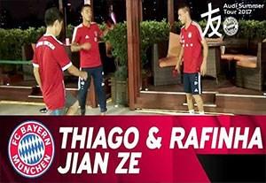 فوتبال تنیس جالب بایرنی ها در چین