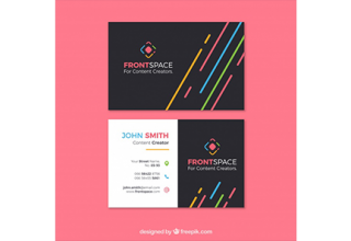 دانلود وکتور Fun business card template
