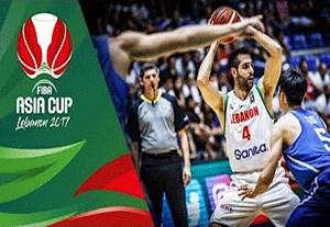 خلاصه بسکتبال لبنان 90-77 چین تایپه
