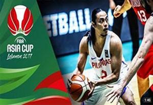 خلاصه بسکتبال اردن 70-75 فیلیپین