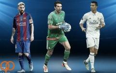 رونالدو، مسی و بوفون، گزینه های عنوان بازیکن فصل اروپا