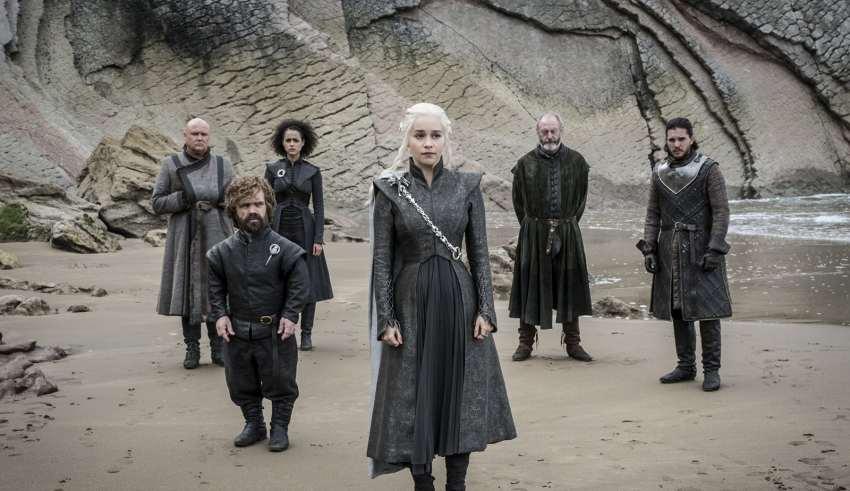Game of Thrones-Daenerys-Jon-Varys-Missandei-Tyrion-Spoils-of-War