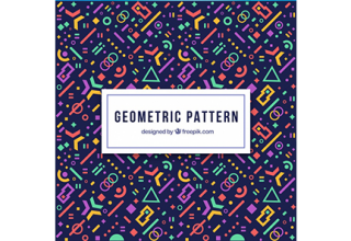 دانلود وکتور Modern geometric pattern with futuristic shapes