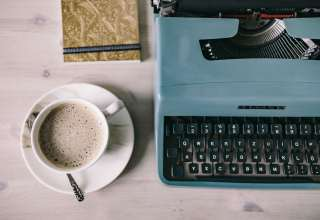Working with old typewriter