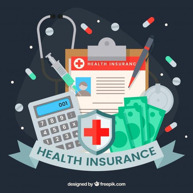 دانلود وکتور Health insurance and medical tools