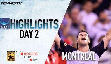 رقابت های تنیس آزاد مونترئال 2017 : هایلایت روز دوم