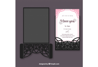دانلود وکتور Elegant and pretty ornamental card