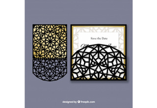 دانلود وکتور Elegant abstract laser cut invitation