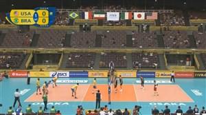 خلاصه والیبال آمریکا 2_3 برزیل