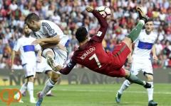 تبریک پله به رونالدو بابت ورود به جمع ۵ گلزن برتر بازی های ملی