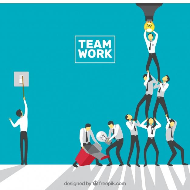 دانلود وکتور Concept about teamwork, bulb