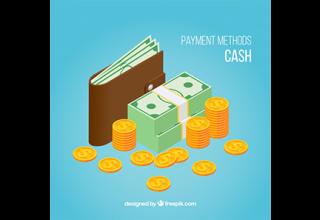 دانلود وکتور Cash payment with isometric style