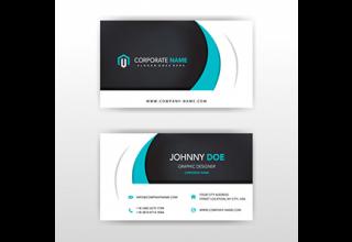 دانلود وکتور Modern vector double sided business card design