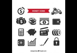 دانلود وکتور Collection of money icons