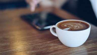 Coffee Pattern Cinnamon Foam Wallpaper
