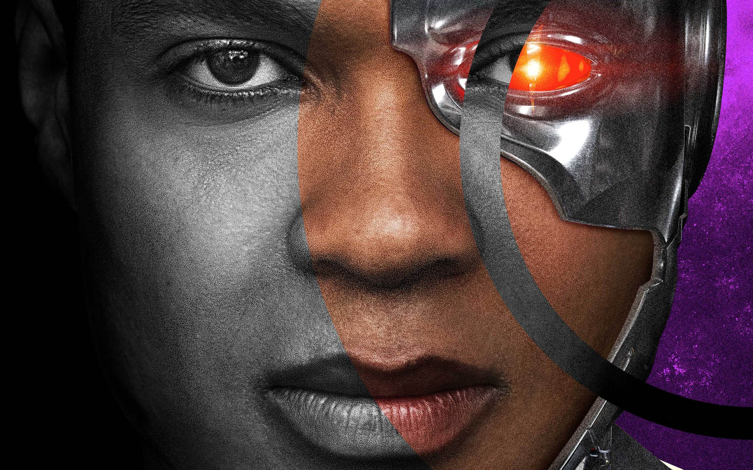 Ray Fisher As Cyborg In Justice League Wallpaper
