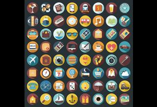 دانلود وکتور Holiday icons collection
