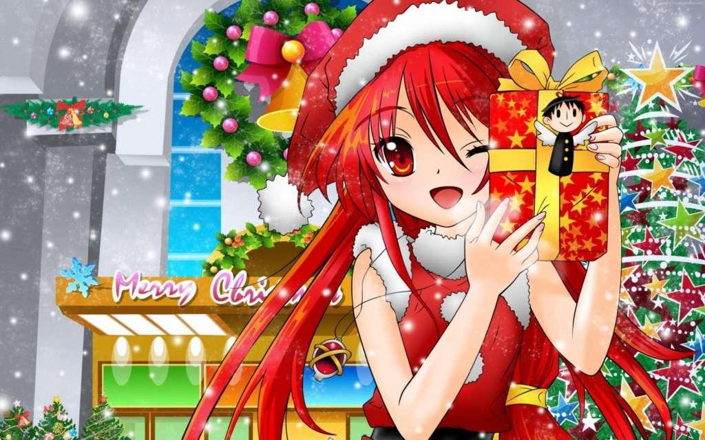 Anime Girl Hot Christmas New Year Wallpaper