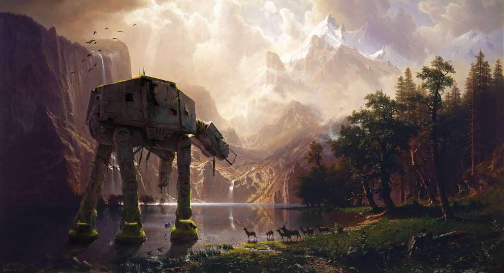 AT-AT Walker Star Wars Artwork Wallpaper