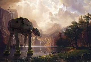 AT-AT Walker Star Wars Artwork Wallpaper