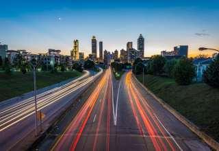 Atlanta USA Road Skyscrapers Wallpaper