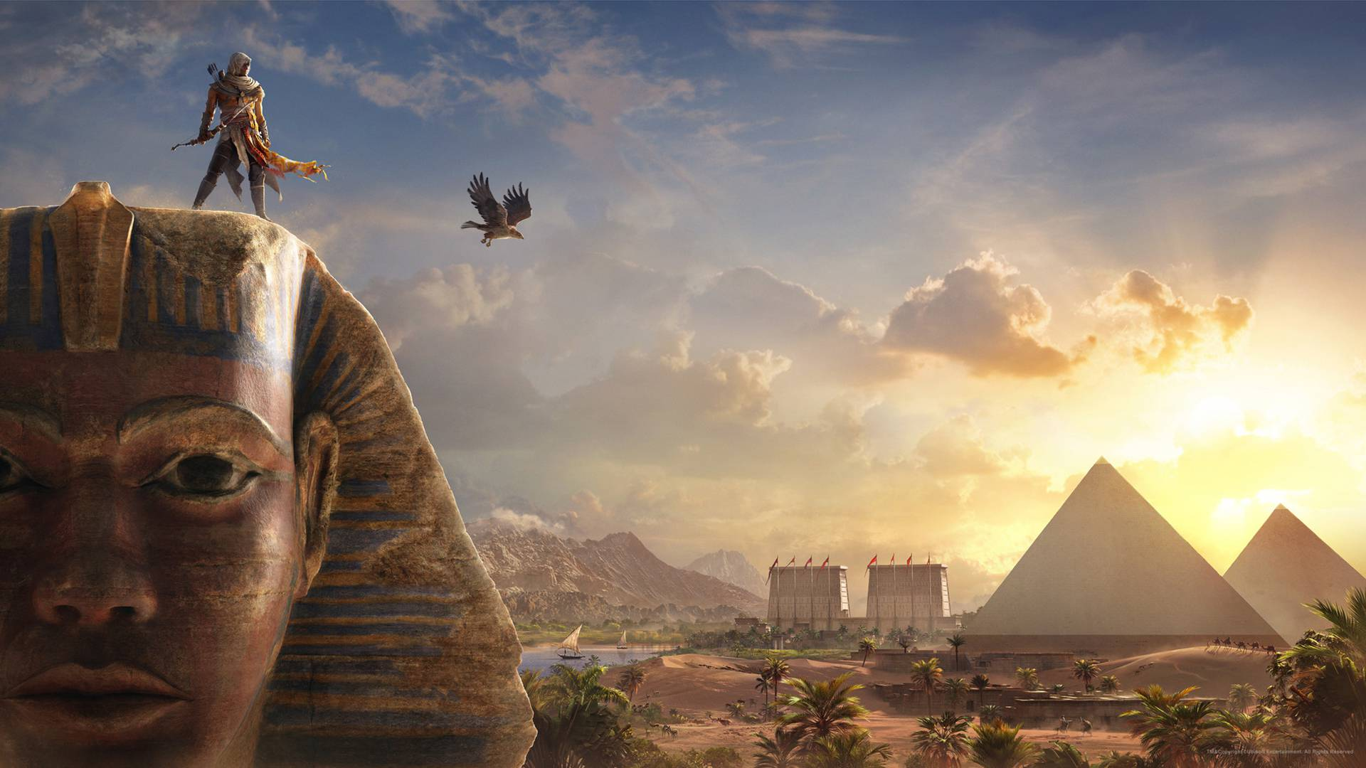Bayek Sphinx Assassins Creed Origins Wallpaper