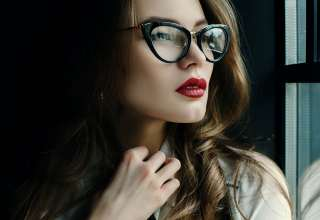 Beautiful Fashionable Business Woman Posing in Loft Interior