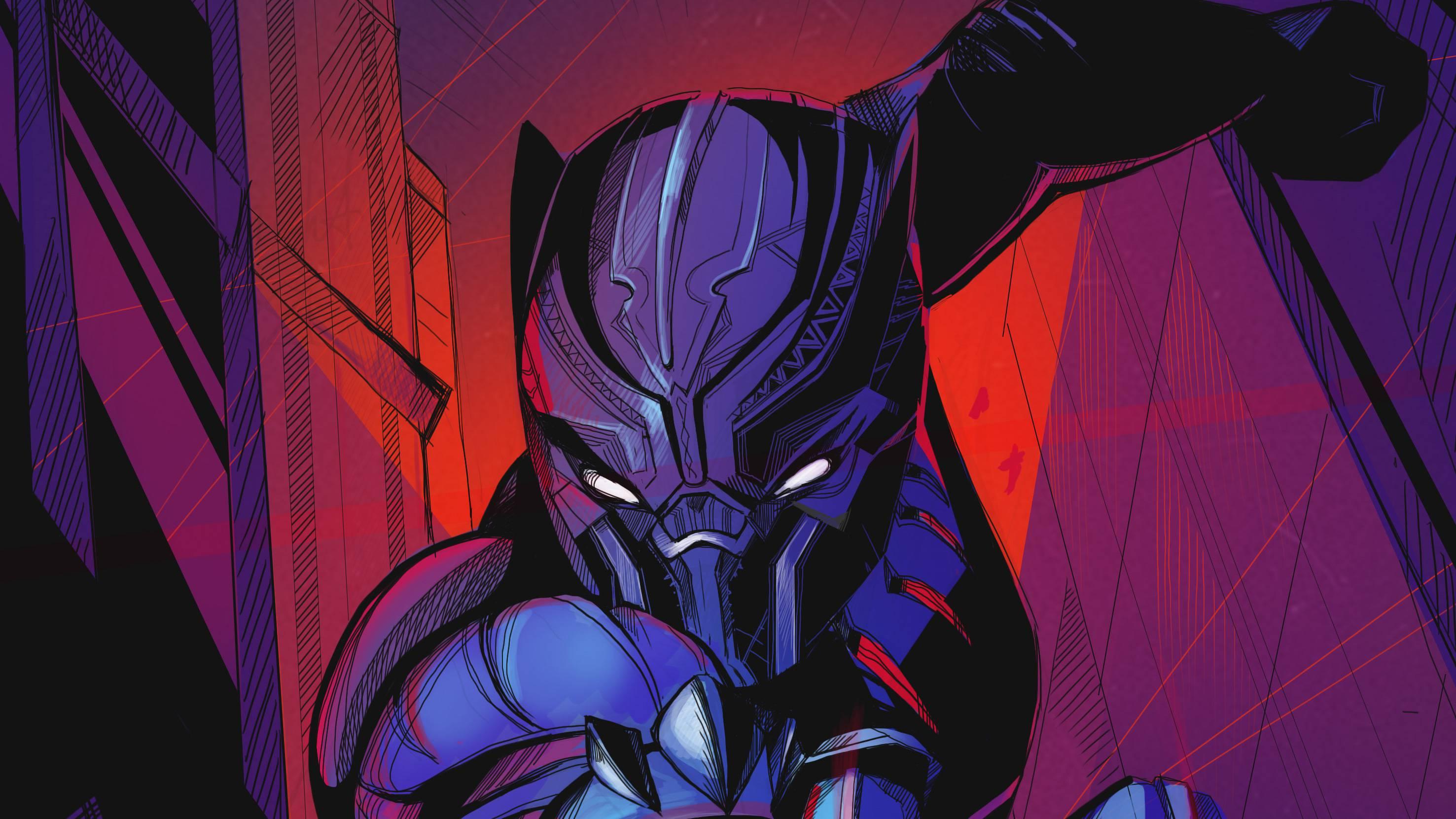 Black Panther Movie Artwork Wallpaper