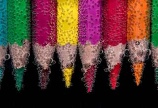 Color Pencils Bubbles Close-up Wallpaper