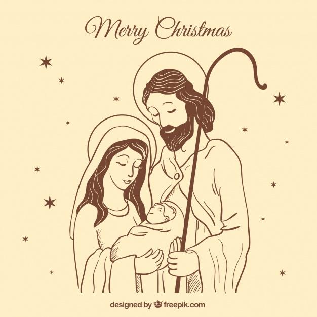 دانلود وکتور Cute nativity scene