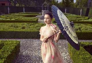 Emilia Clarke Harpers Bazaar 2017 Photoshoot Wallpaper