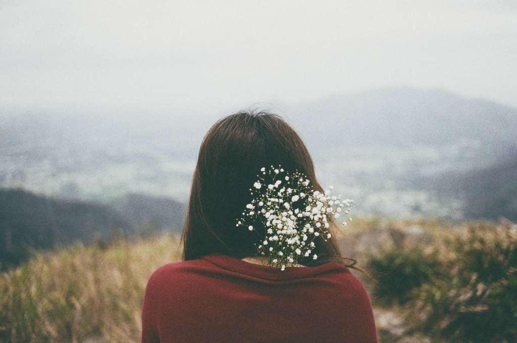 Girl Flowers Hair Mood Wallpaper
