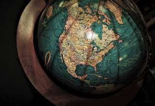Globe Antiques Map Wallpaper