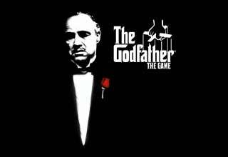 Godfather Marlon Brando Don Vito Corleone Black Rose Wallpaper