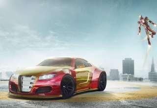 Iron Man Car Artwork Wallpaper