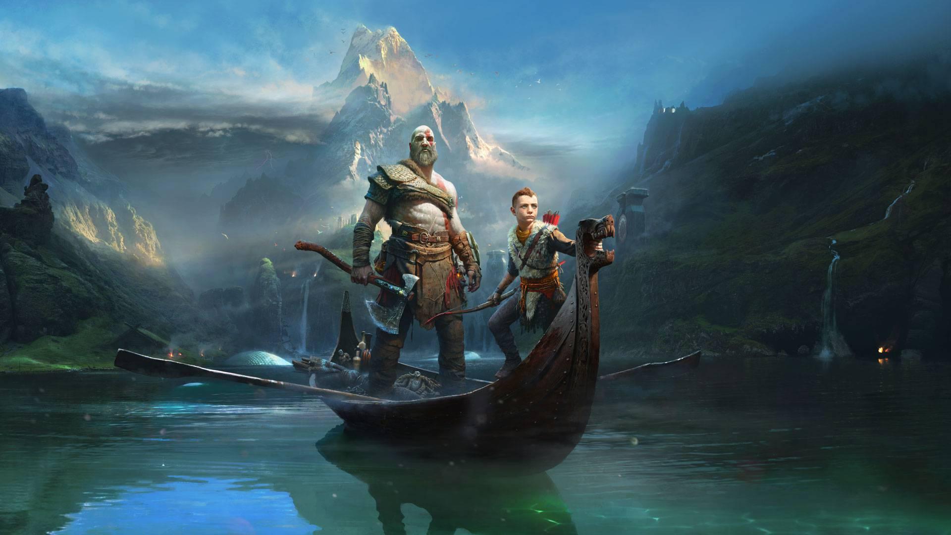 Kratos Atreus God of War 2018 Wallpaper