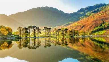 Lake Buttermere National Park Cumbria England Mountains Wallpaper