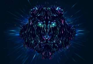 Lion Artwork Wallpaper