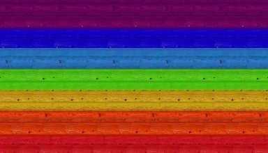 Multicolored Boards Texture Wall Rainbow Wallpaper