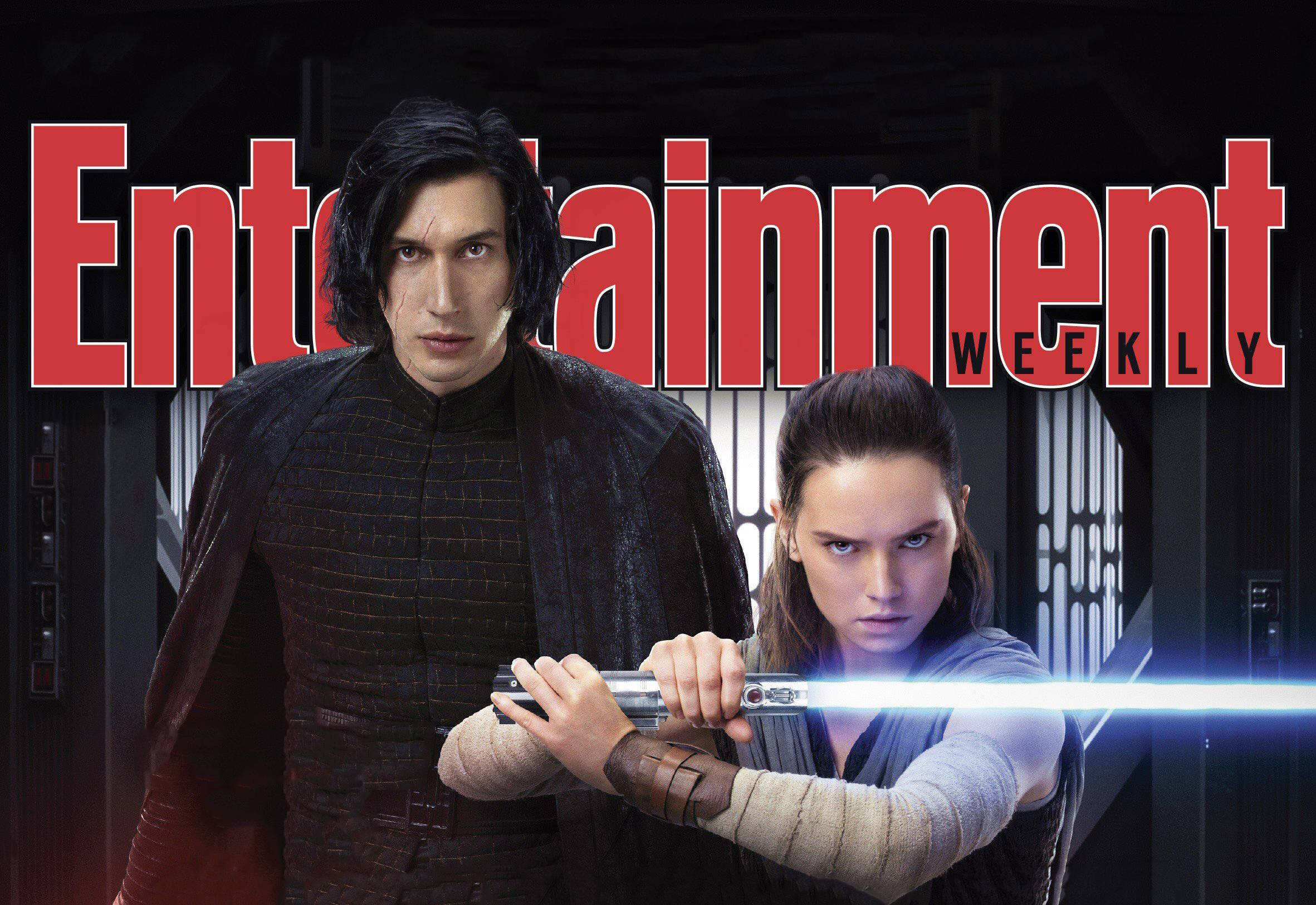 Rey Kylo Ren Star Wars The Last Jedi In Entertainment Weekly